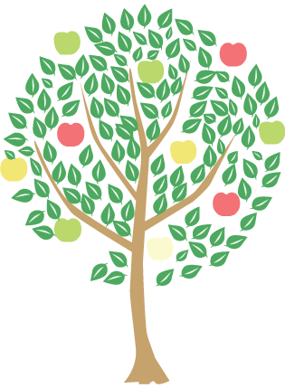 an apple tree icon, babsyjean.