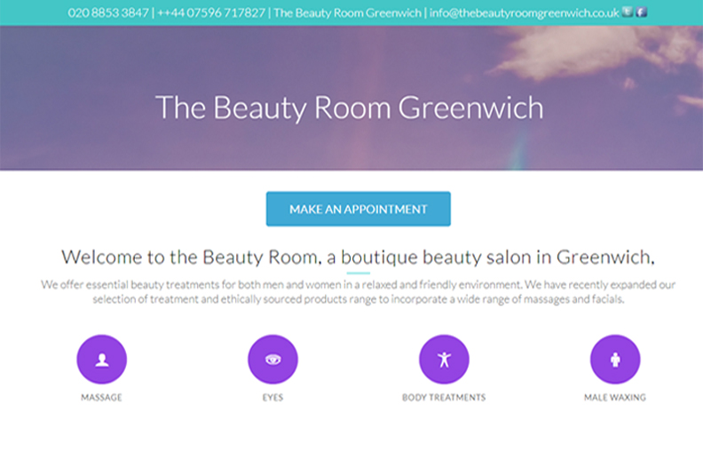 A beauty parlour site by babsyjean