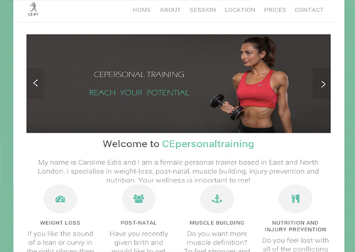A personal training site.